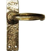 Antique Cast Brass Range Latch Door Handle Set 152x38mm 2439