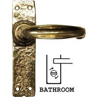 Antique Cast Brass Range Bathroom Door Handle Set 152x38mm 2439