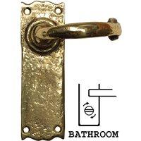 Antique Cast Brass Range Bathroom Door Handle Set 152x47mm 2451