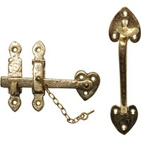 Antique Cast Brass Range Thumb Latch Set 203x63mm 3619