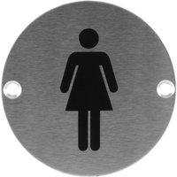 Stainless Steel 76mm Female Symbol Door Sign