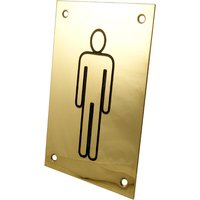 Brass Engraved Toilet Indicator Sign Male 150x100mm