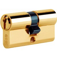 Iseo Brass Double Euro Front Door Cylinder