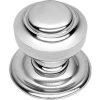 Polished Chrome Tiered Front Door Knob 76mm