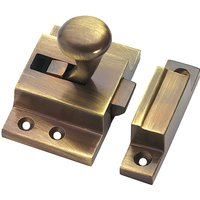 Brass Antiqued Finish Fanlight Window Catch 57x38mm