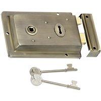 Aged Brass Surface Mounted Door Lock