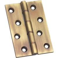 Brass Antiqued Finish Hinge 102x76mm In Pairs