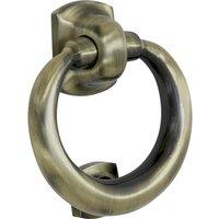 Brass Antiqued Finish Ring Front Door Knocker 114mm