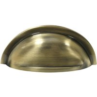 Aged Brass Hooded Drawer Pull 90x45mm