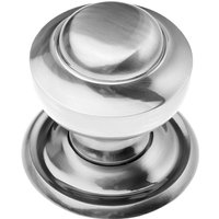 Polished Pewter Tiered Centre Door Knob 76mm