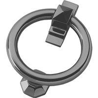 Polished Pewter Ring Door Knocker 105mm