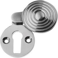 Polished Pewter Reeded Covered Escutcheon