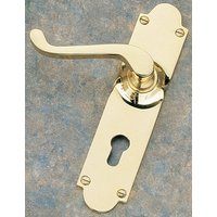 Brass Unlacquered Euro Profile Door Handle Set