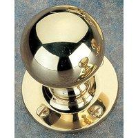 Brass Unlacquered Round Door Knob Set