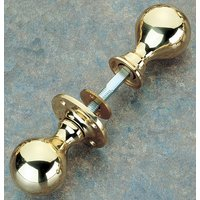Brass Unlacquered Rim Knob Set 48mm