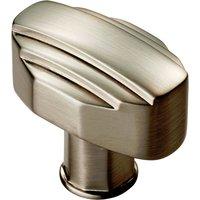 Satin Nickel Art Deco Cupboard Knob 30x20mm