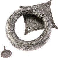 Rustic Style Pewter Ring Front Door Knocker