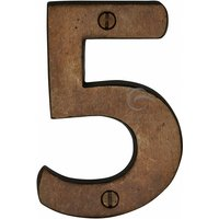 Heritage RBL351 Bronze House Number 5 76mm