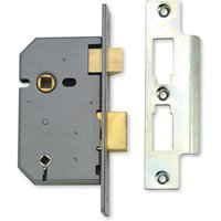 Assa Abloy 3IN Heavy Duty Bathroom Mortice Lock Matt Chrome