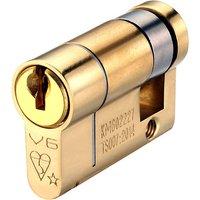 BS Kitemarked Single Key Euro Cylinders 6 Pin Keyed Alike