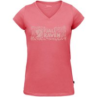 Fjällräven Logo Stamp T-Shirt Women pink Damen Gr. M