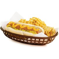 Classic Oval Food Basket Brown 24x15x5cm (Case of 36)