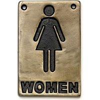 Bronze Toilet Sign Women (Single)