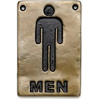 Bronze Toilet Sign Men (Single) - Men Gifts
