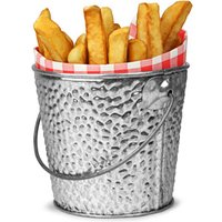 Galvanised Steel Serving Bucket Round 10cm (Single)