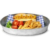 Galvanised Steel Oval Diner Platter 30.5 x 23cm (Case of 12)