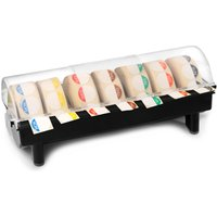 Heavy Duty 7 Roll 19mm Label Dispenser with Food Label Day Dots - Cooking Gifts
