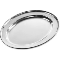 Stainless Steel Oval Meat Flat 225mm
