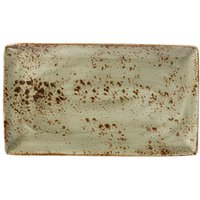 Steelite Craft Rectangular Platter Green 33 x 19cm (Set of 6)