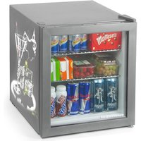 Custom Printed Frostbite Mini Fridge 49ltr Silver (Two Sided Print) - Custom Gifts