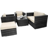 ES 5 Piece Outdoor Sofa Suite Black