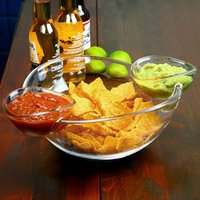 Chip and Dip Bowl with 2 Side Dip Dishes (Single)
