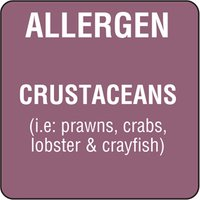 Food Allergen Labels Crustaceans (Roll of 500)
