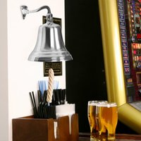 Chrome Last Orders Bell Large 7inch / 180mm - Chrome Gifts