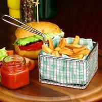 Square Chip Fryer Food Presentation Basket 9.5 x 6cm (Single)
