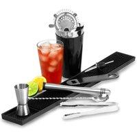 Black Cocktail Shaker Set