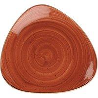 "Churchill Stonecast Spiced Orange Triangular Plate 10.5"" / 26.5cm (Case of 12)"