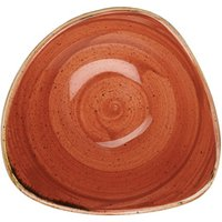 "Churchill Stonecast Spiced Orange Triangular Bowl 7.25"" / 18.5cm (Set of 12)"