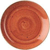 """Churchill Stonecast Spiced Orange Coupe Plate 6.5"""" / 16.5cm (Case of 12)"""