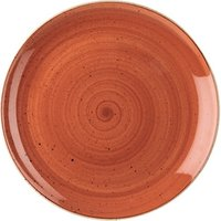 """Churchill Stonecast Spiced Orange Coupe Plate 11.25"""" / 28.8cm (Set of 12)"""