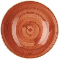 "Churchill Stonecast Spiced Orange Coupe Bowl 9.75"" / 24.8cm (Case of 12)"