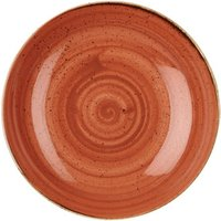 "Churchill Stonecast Spiced Orange Coupe Bowl 7.25"" / 18.2cm (Case of 12)"