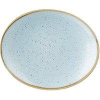 """Churchill Stonecast Duck Egg Oval Coupe Plate 7.75"""" / 19.2cm (Case of 12)"""