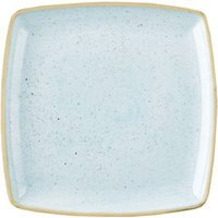 """Churchill Stonecast Duck Egg Deep Square Plate 10.25"""" / 26cm (Case of 6) - Duck Egg Gifts"""