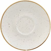 Churchill Stonecast Barley White Cappuccino Saucer 6.25 Inches / 15.6cm (Case of 12)