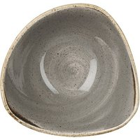 Churchill Stonecast Peppercorn Grey Triangular Bowl 7.25 Inch / 18.5cm (Set of 12)